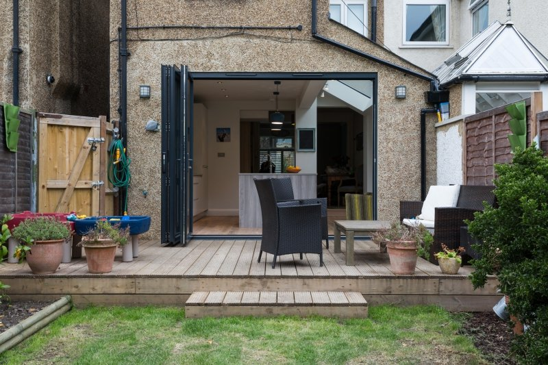 Single Storey Extension Bi Folds
